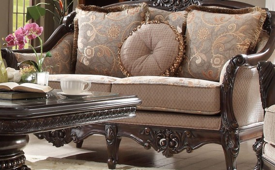 HD 09 Homey Design upholstery living room set Victorian, European & Classic design Sofa Set
