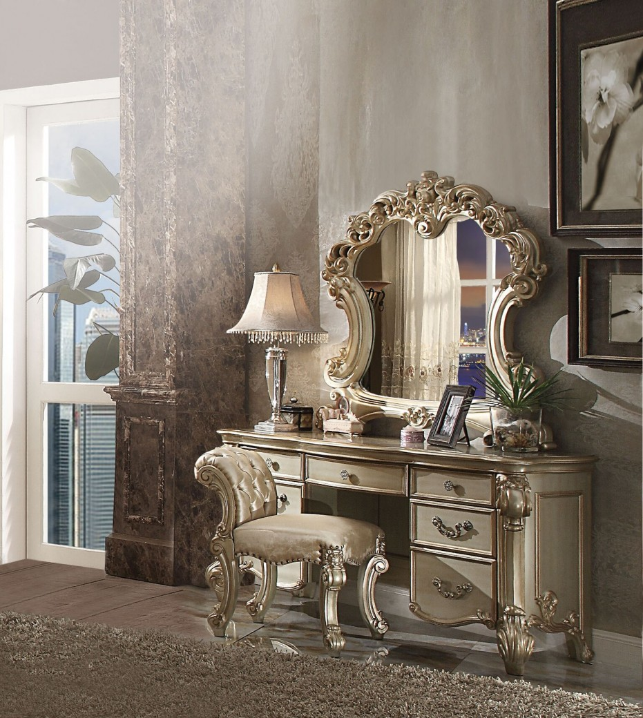 Acme 23007 Vendome Collection Gold Patina Vanity