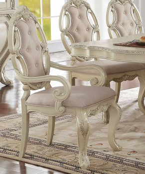 61280 Acme Dining Table Ragenardus Collection in Antique White