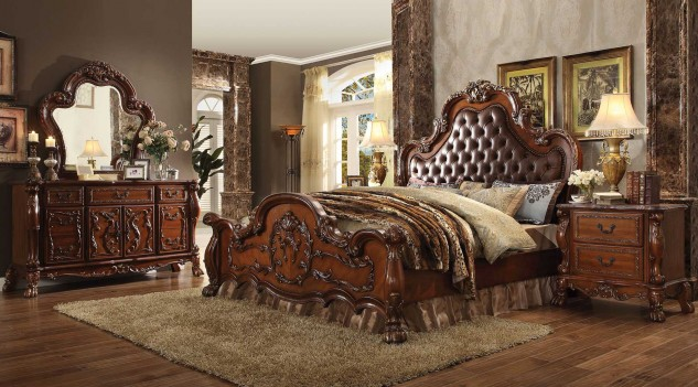 23140 Acme Dresden Bedroom Collection Cherry Oak Finish
