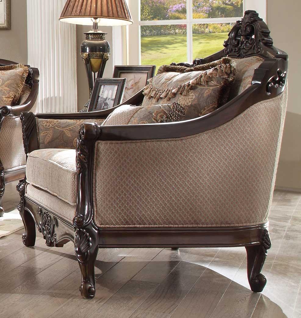 Fabulous Hd 09 Homey Design Accent Chair Dark Red Mahogany Finish Creativecarmelina Interior Chair Design Creativecarmelinacom