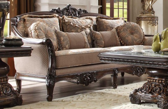 HD 09 Homey Design upholstery living room set Victorian