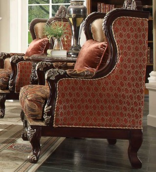 HD 111 Homey Design upholstery Accent Chair Victorian, European