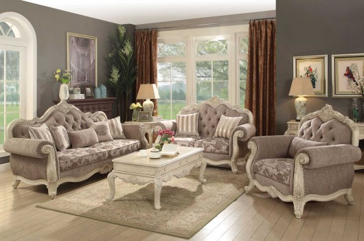56020 Gray Fabric /Antique...