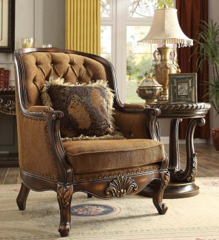 HD 9344 Homey Design Accent Chair Victorian Style