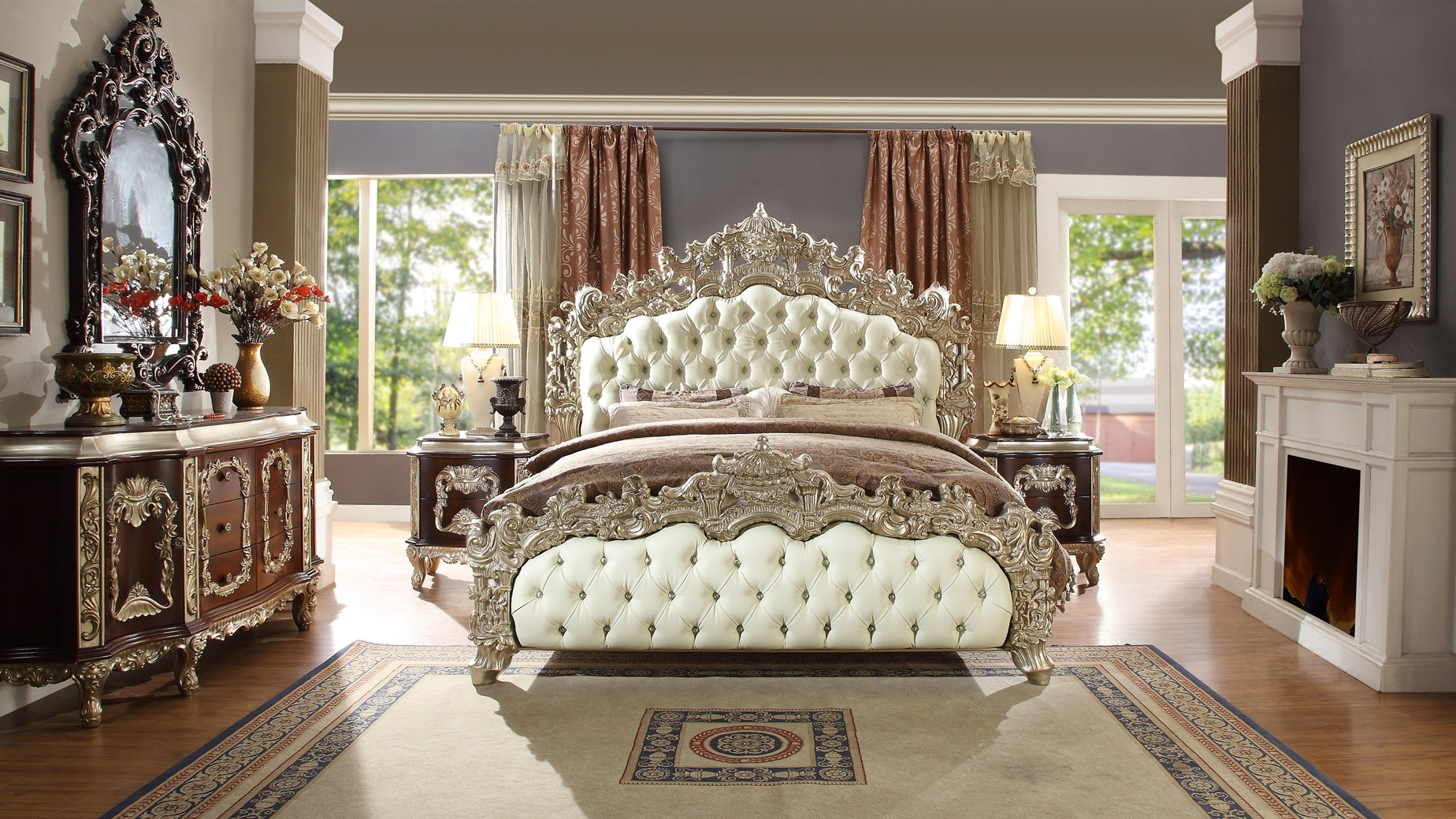 Phenomenal Hd 8017 Homey Design Bedroom Set Victorian European Classic Design Interior Design Ideas Ghosoteloinfo