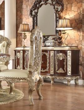 HD 8017  Antique White finish Dining Set Rectangular Table Homey Design Victorian, European & Classic design