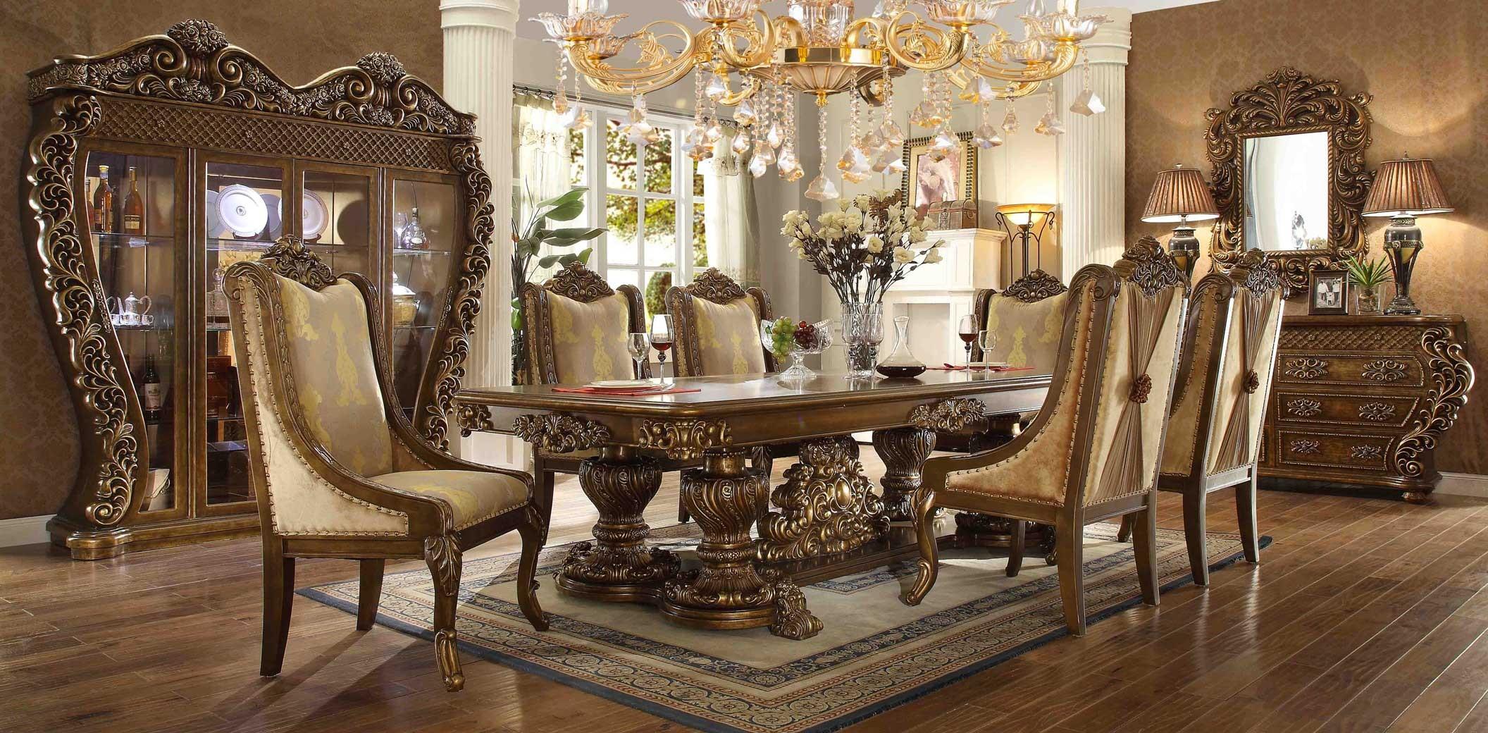 HD 8011 Homey Design Juego de comedor estilo Victoriano Clasico