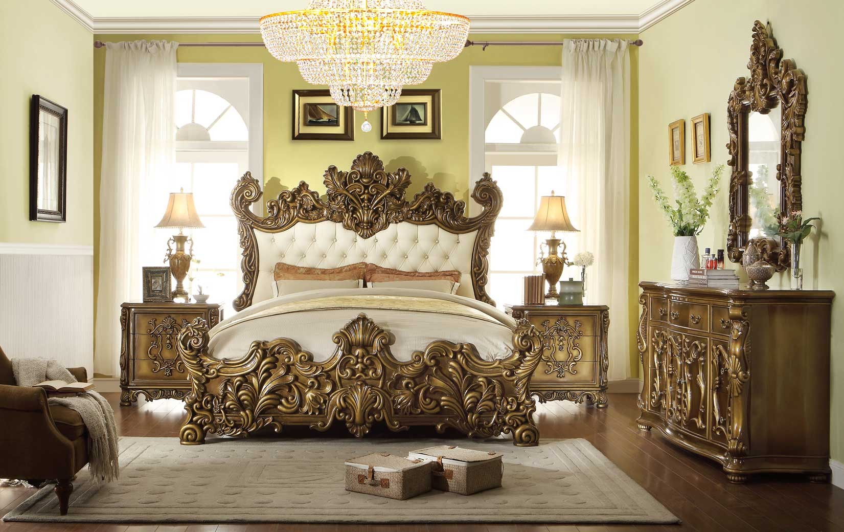 Enjoyable Hd 8008 Homey Design Bedroom Set Victorian European Classic Design Interior Design Ideas Ghosoteloinfo