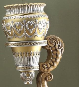 HD 1505  Victorian Style Flower Pedestal by Homey Design