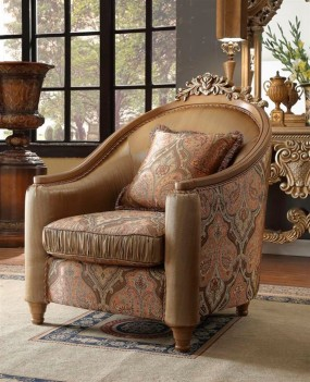 HD 622 Homey Design Accent Chair European Victorian Style