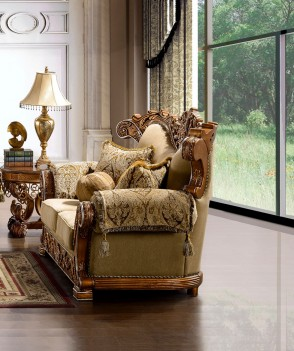 HD 369 Homey Design upholstery living room set victorian style ...