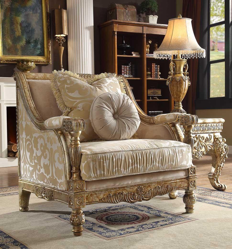 HD 205 Homey Design Upholstery Accent Chair Victorian, European U0026 Classic  Design