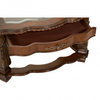 Aico Windsor Court Rectangular Cocktail Table VINTAGE FRUITWOOD