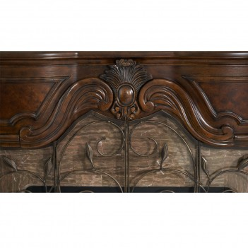 AICO Windsor Court Fireplace VINTAGE FRUITWOOD