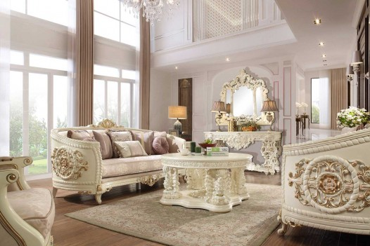 HD 2011 Homey Design upholstery living room set Victorian