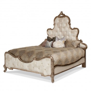 Aico Platine de Royale Bed ANTIQUE PLATINUM