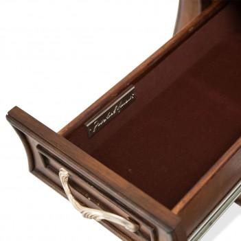Aico Platine de Royale Lt Espresso Vanity Desk and Mirror