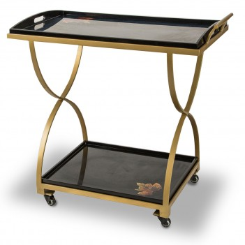 Aico by Michael Amini FS-ILUSN-093 Aico Illusions Serving Cart