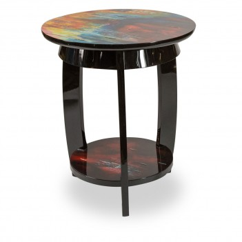 FS-ILUSN-085 Aico Illusions Round Chair Side Table
