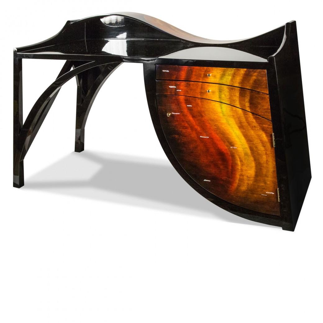 Aico by Michael Amini FS-ILUSN-057 Aico Desk Illusions