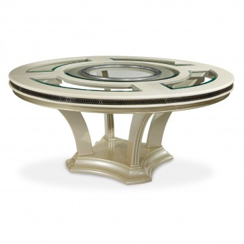 Aico Hollywood Swank Dining Room Round Dining Table - Pearl