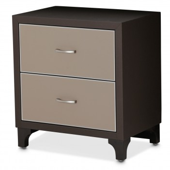 Aico 21 Cosmopolitan Taupe Nightstand