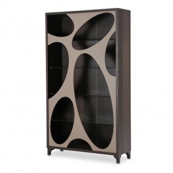 Aico 21 Cosmopolitan Taupe Curio Center Cabinet