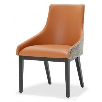 Aico 21 COSMOPOLITAN ORANGE Side Chair Diablo Orange