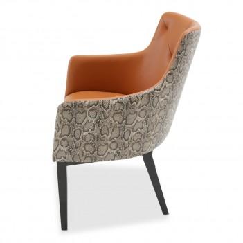 ... Aico 21 COSMOPOLITAN ORANGE Tufted Arm Chair Diablo Orange ...  sc 1 st  The Mansion Furniture & Buy