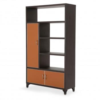 Aico 21 COSMOPOLITAN ORANGE 2 Piece Bookcase Unit Diablo Orange
