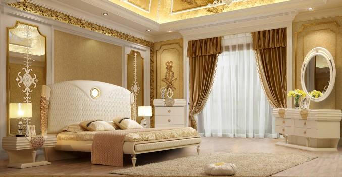 HD 901 Homey Design Bedroom set Victorian, European & Classic