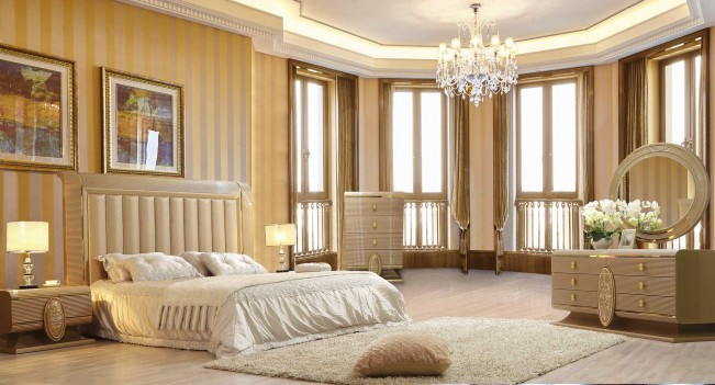 HD 922 Homey Design Bedroom set Victorian, European & Classic