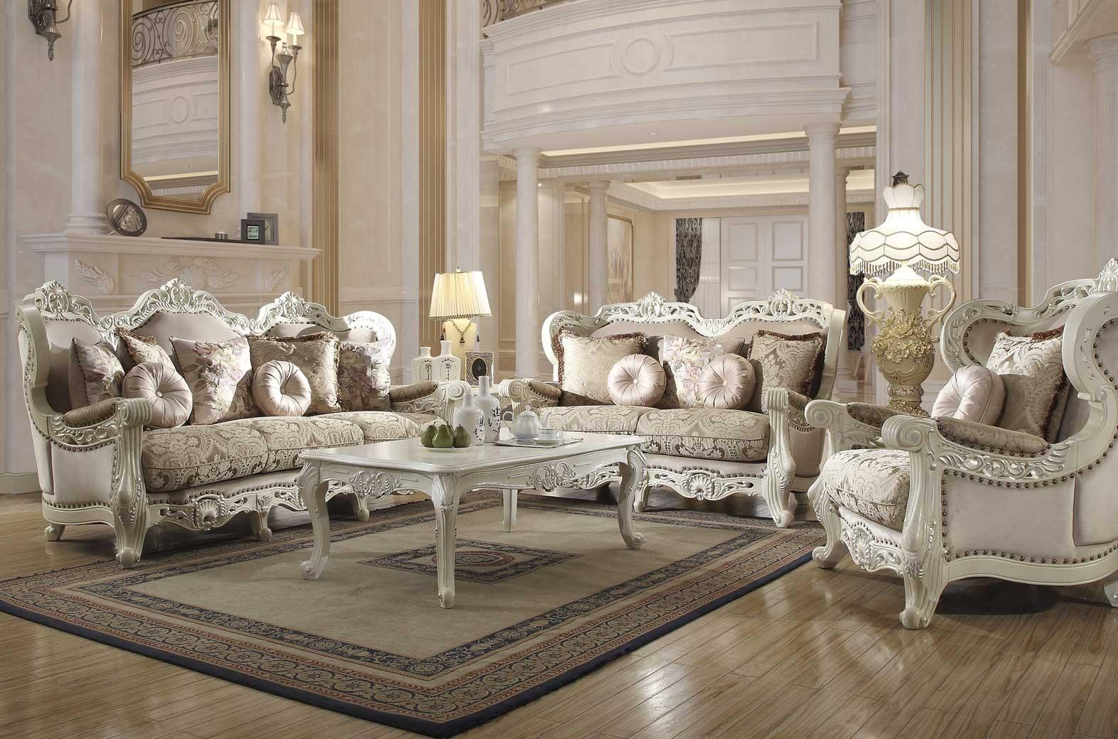HD 9344 Homey Design Juego de Sala Estilo Victoriano, Europeo, Clasico