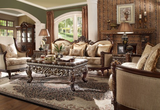 HD 92 Homey Design upholstery living room set Victorian