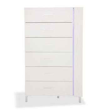 Aico Lumiere 6 Drawer Chest w/LED Lighting