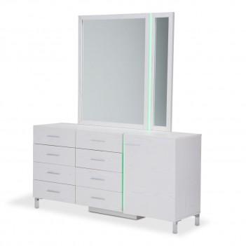 Aico Lumiere Dresser W/Mirror Frost
