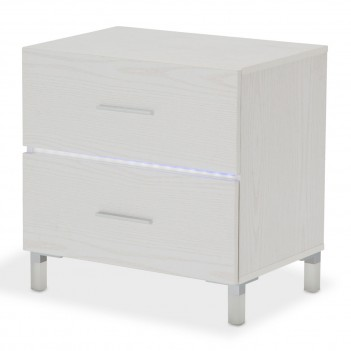Aico Lumiere Nightstand W/LED Lighting Frost