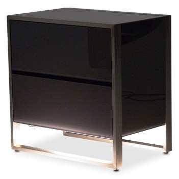 Aico Metro Lights Nightstand Midninght