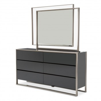 Aico Metro Lights Dresser & Mirror Midnight