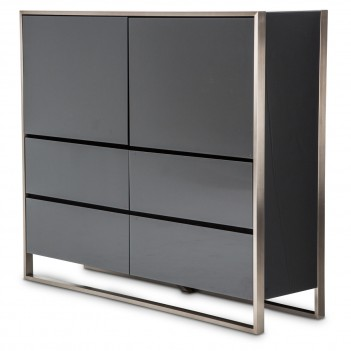 Aico Metro Lights Storage Cabinet Midnight