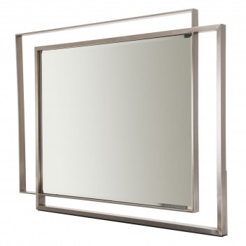 Aico Metro Lights Wall Mirror Midnight