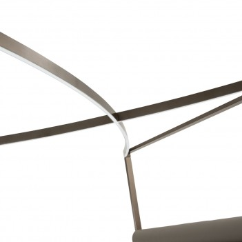 Aico Metro Lights Queen Canopy Bed Bedroom Set Midninght