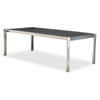 Aico Metro Lights 4 Leg Rectangular Dining Table Midnight