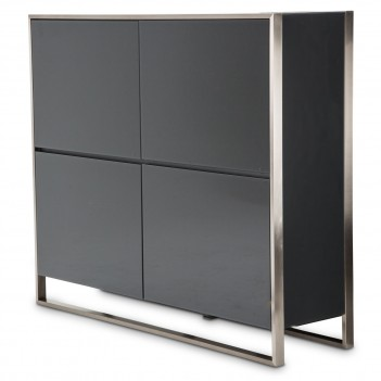 Aico Metro Lights Accent Cabinet Midnight