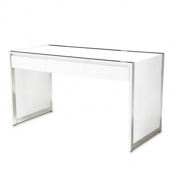 Aico State St. Writing Desk Glossy White