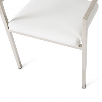 aico state st arm chair clear acrylic back