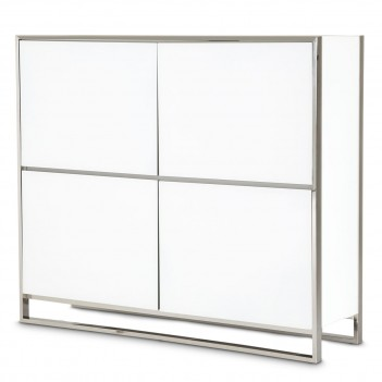Aico State St. Accent Cabinet Glossy White