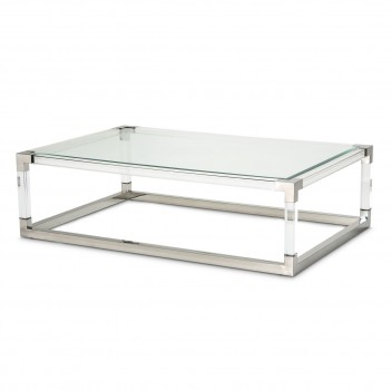 Aico State St. Rectangular Cocktail Table Stainless Steel