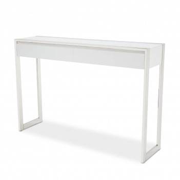 Aico State St. Console Table Glossy White